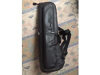 "Leather Norman's ""True Blue"" trombone gig bag carry case waterproof vintage"
