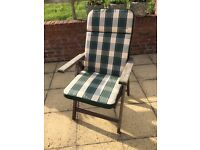 Ten garden chair cushions