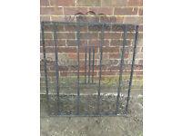 Black heavy-duty iron,steel gate