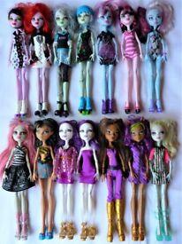 £4 each Monster High dolls bundle inc Frankie, Rochelle, Lagoona, Clawdeen...