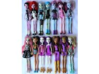 £4 each Monster High dolls bundle inc Frankie, Rochelle, Lagoona, Clawdeen...