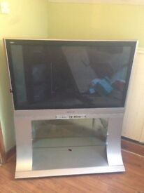 "42"" Panasonic TV with stand."