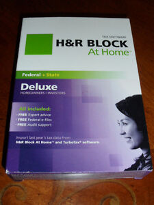 2011 H&R Block DELUXE turbo w/State H&R formerly Tax Cut factory New sealed CD!