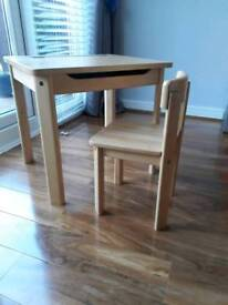 Child's wooden desk solid