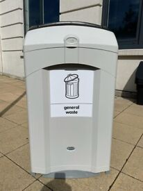 General waste and Recycling bins