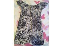 Animal print top new look size 8