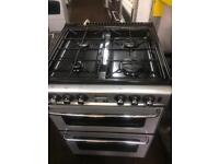 Silver new home 60cm gas cooker grill & oven good condition with guarantee