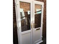 Used upvc porch French doors