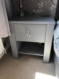2x Grey Painted Chest of Draws