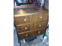 Mahogany chest of drawers ,
