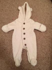 Babygap Snowsuit. Aged 0-3 Months.