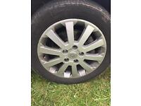 Vauxhall alloy wheels with tyers £40