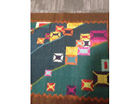 Retro Modern Wool Vintage 1970s Rug from Poland - Stunning!!