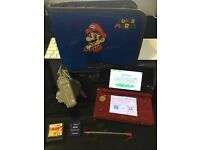 Nintendo 3DS Metallic Red Console + Charger, case and game