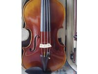"""Sandner 15"""" Viola. Beautiful tone. inc, Bow, Case, and new Viola Instrument Stand"""