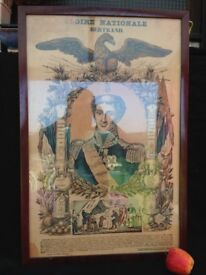 Antique Lithograph War Glory Very Fine Quality Picture