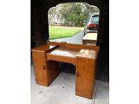 Antique Dressing Table/Vanity with Large Mirror