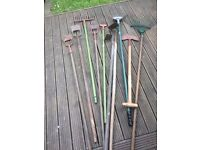 Selection of Hoes and Rakes