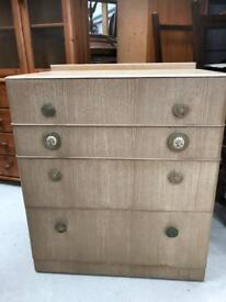 Retro vintage chest of drawers FREE DELIVERY PLYMOUTH AREA