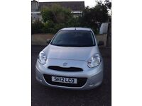 Silver Nissan Micra for sale. great condition.