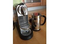 Nespresso coffee machine and Nespresso milk aeroccion