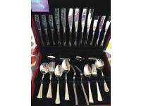 Arthur Price 44 Piece Cutlery Set in wooden box. Never used.