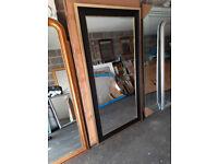 Ex Display Full Length Gold / Black Beveled Leaner Mirror