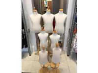 7x Tailor Dummy children's mannequins (various ages)
