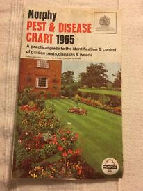 Vintage Murphy Pest & Disease Chart 1965. Happy to post. £1.50.