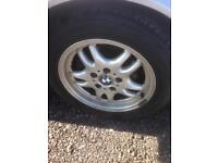 BMW alloy wheels with good tyres