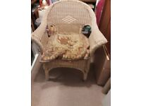 Wicker chair and cushion .bargain price.