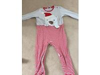 Christmas baby grow 12-18 Months