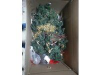 "6"" Christmas Tree, decorations and lights"