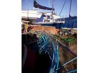 millucy priorycraf mariners mate 18ft motor sailer sloop . fitted with a yanmar 1gm 10 engine