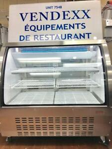 Display Case, Curved Glass Coolers, Showcase Fridges, Merchandiser (STAINLESS STEEL MODELS + 5 YEAR COMPRESSOR WARRANTY)