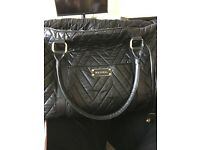 Mayoral black leather changing bag,excellent condition