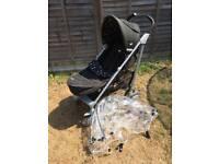 Joie Brisk Pushchair Buggy Stroller Black with Stars