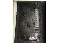 MUST SELL ASAP -PA System - KAM speakers, flightcase rack, Palladium 400w Amp, Alesis iMultimix Ipod