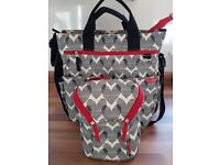 Skip Hop Changing Bag with matching snack/food storage bag.Excellent condition.