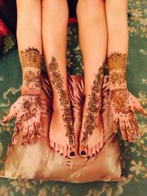 Professional henna artist trained by Ash Kumar