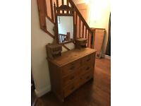 Edwardian Solid Wood Dressing Table Chest Of Drawers Upcycle Project