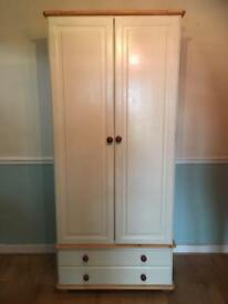 Solid Wood wardrobe with drawers
