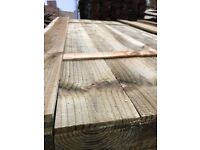 Feather edge boards pressure treated green