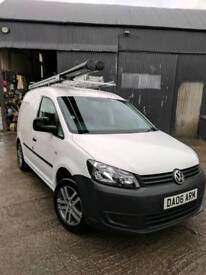VW Caddy van with bott shelving, roof rack and towbar NO VAT