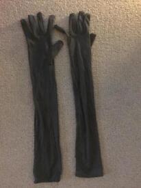 Women's long black gloves - 20s Halloween costume