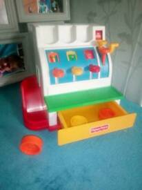 Fisher Price till with coins