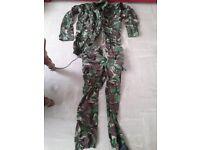 Original British camouflage combat jacket and pants camouflage