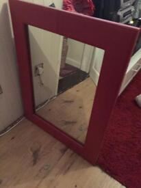 Large red mirror