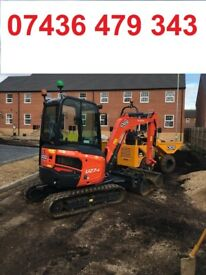 MINI DIGGER and DRIVER Hire West London