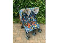 Cosatto Supa Dupa Double Pushchair Fox Tales with Extras